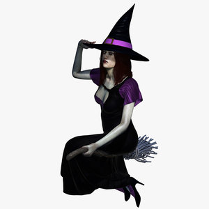 witch rigging character 3D model