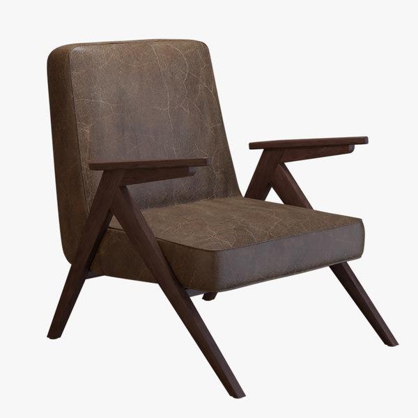 3D scandinavian style lounge chair model