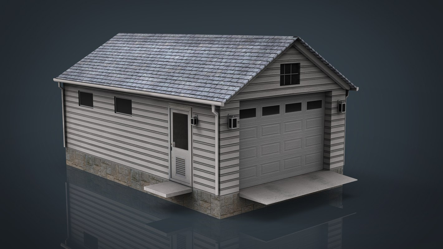 detached garage 3D model