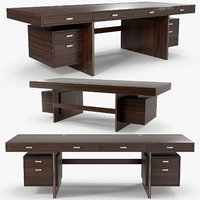 drawers table - 3D