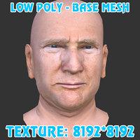 donald trump head base mesh 3D model