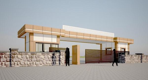 entry building 3D
