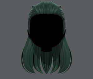 3D hair style girl v40