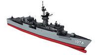3D frigate navy cold model