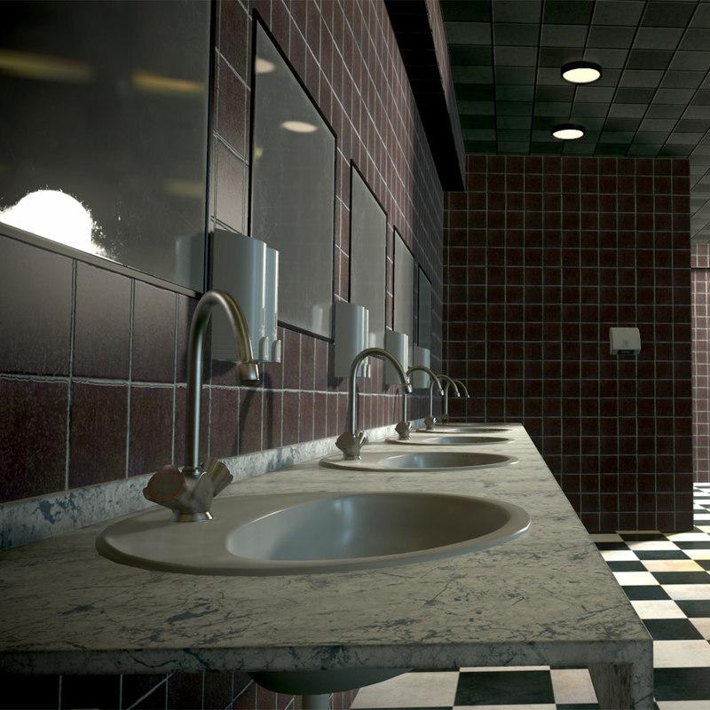 3D pbr toilet interior