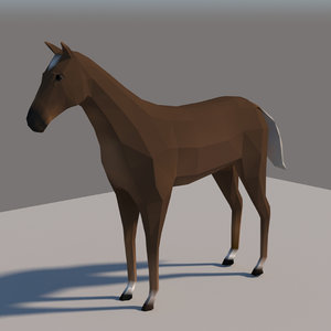 3D rigged horse