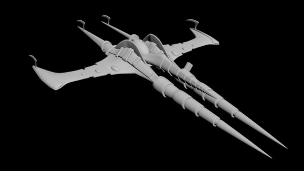 highpoly spaceship 3D model