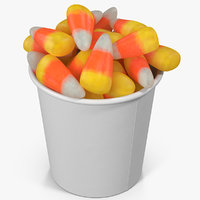 3D candy corn cup