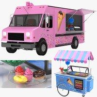 truck cart candy model