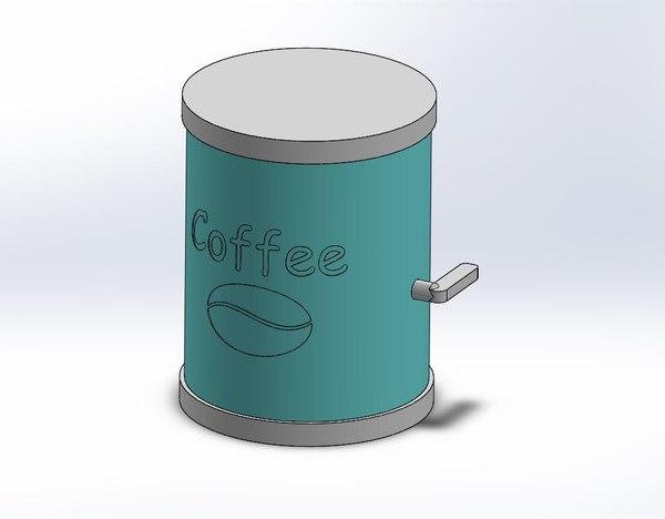 coffe dispencer moka pot 3D model