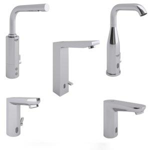 faucets grohe set mixers 3D model