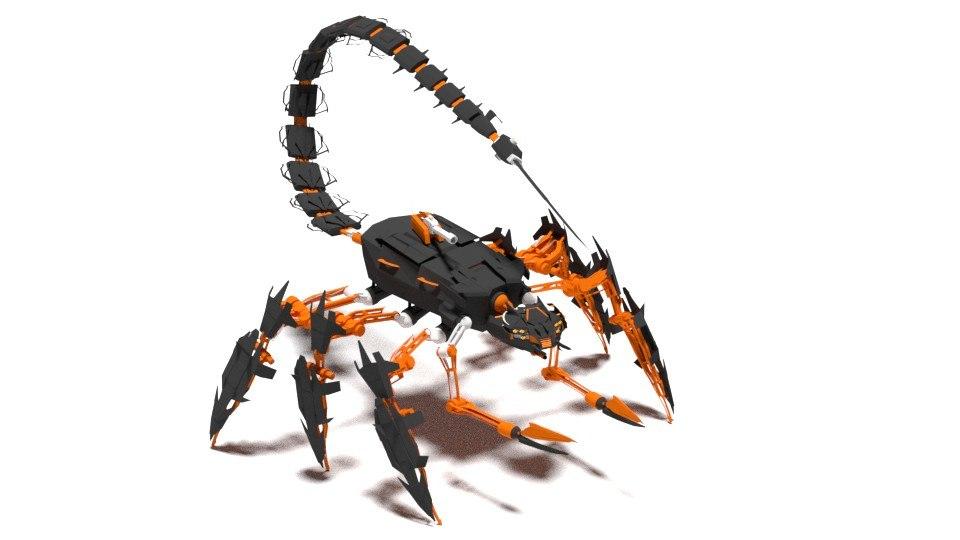 3D robot scorpion