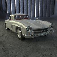 3D mercedes 300 sl