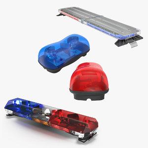 3D legacy lightbars 2 police light