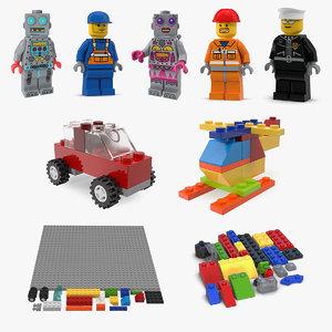 3D lego 3 model