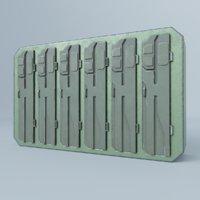 3D locker metallic pbr