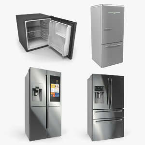 refrigerators 4 samsung 3D model