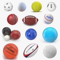 Sport Balls Big 3D Models Collection