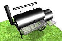 3D barbecue grill barbek model