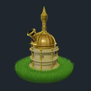 3D model fantasy observatory