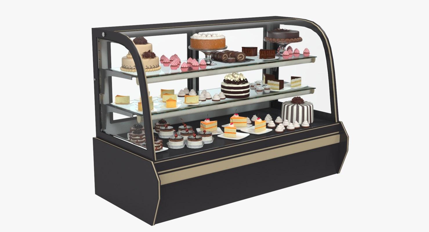 3D showcase cake model