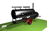 barbecue big 3D model