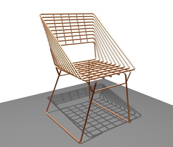 metal chair model