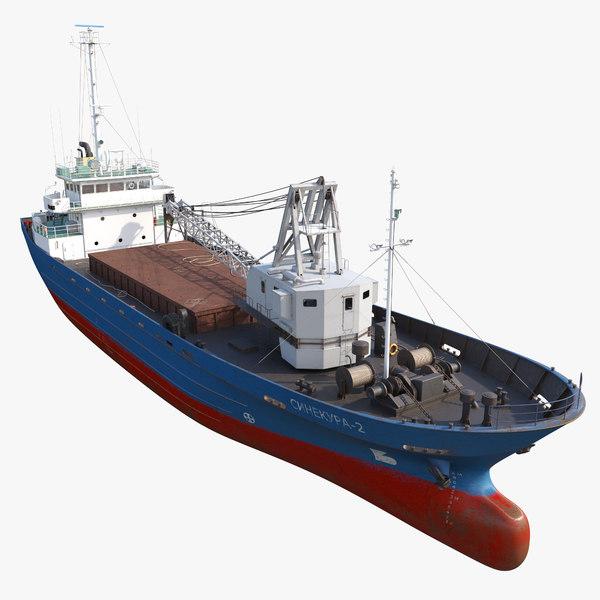 3D cargo vessel sinekura-2 model