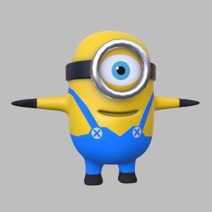 3D model cute minion