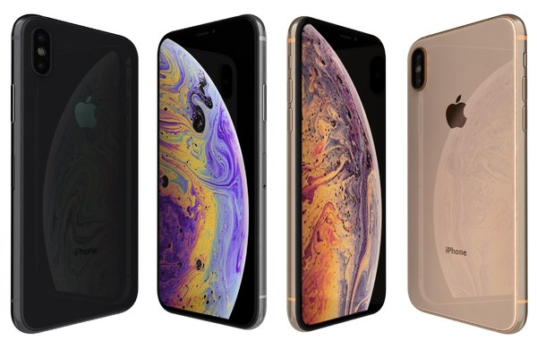 3D apple iphone xs colors model