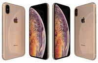 3D apple iphone xs gold