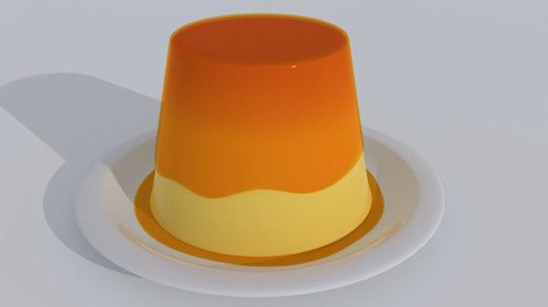 egg pudding 3D