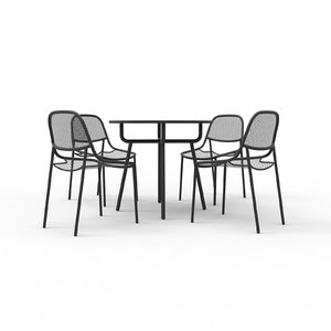 grill chairs 3D model
