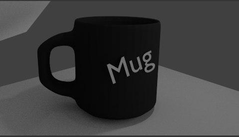3D simple mug