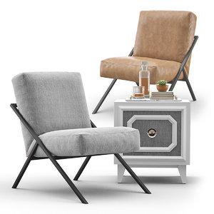 3D bowery chair keystone designer model