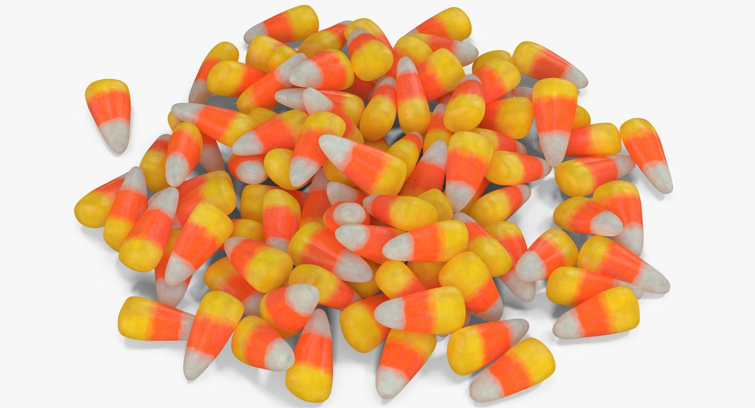 candy corn 3 3D model