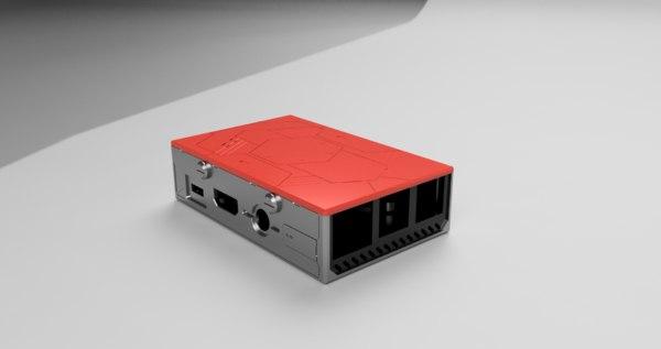 sci fi raspberry pi 3D
