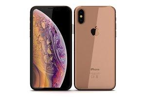 3D apple iphone xs gold model