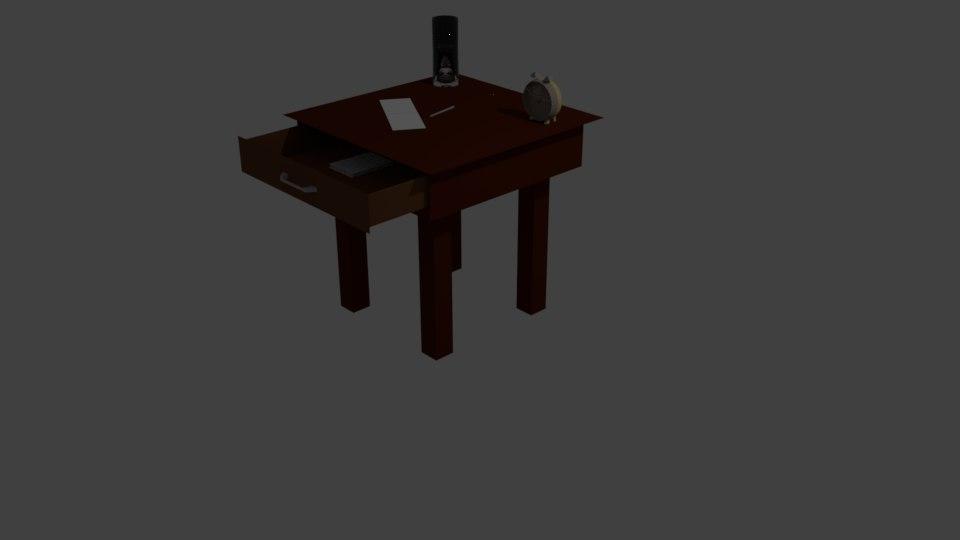 3D model bedside cabinet