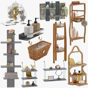 3D decor bathroom accessories model