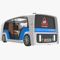 rinspeed electric bus 3D model