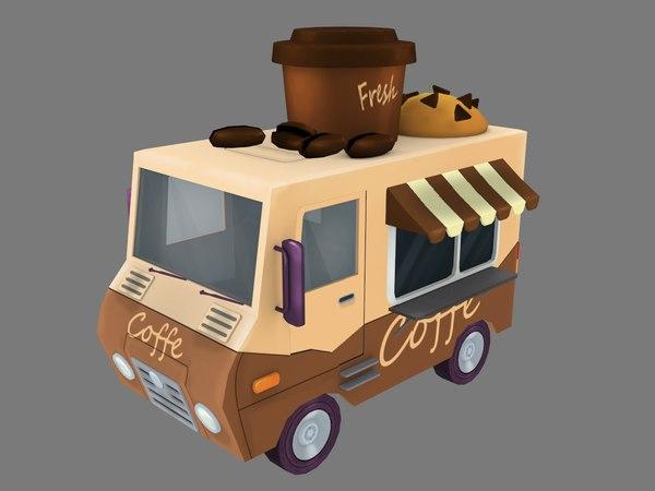 3D coffe truck model