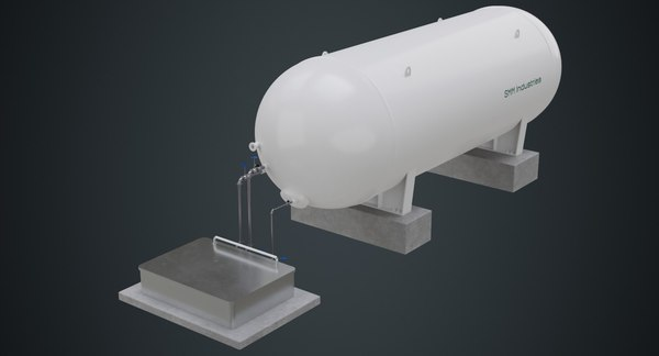 industrial gas tank contains 3D