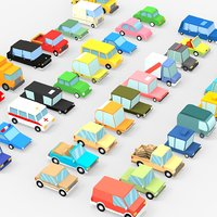 3D 39 cartoon cars