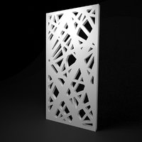 Low-poly CNC panel Lines hard lattice