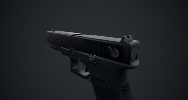 low-poly weapon 3D model