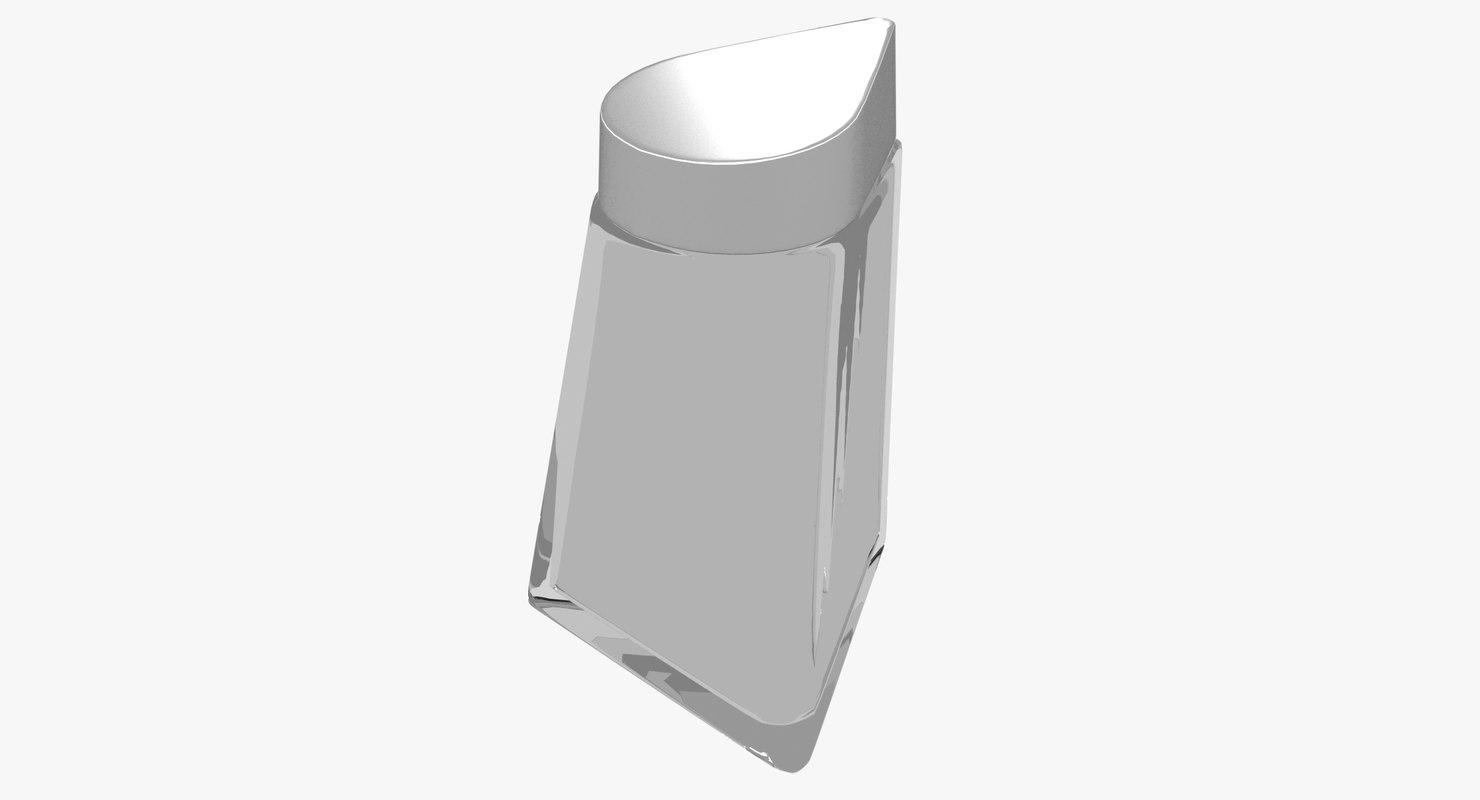 3D aluminium drop cap glass
