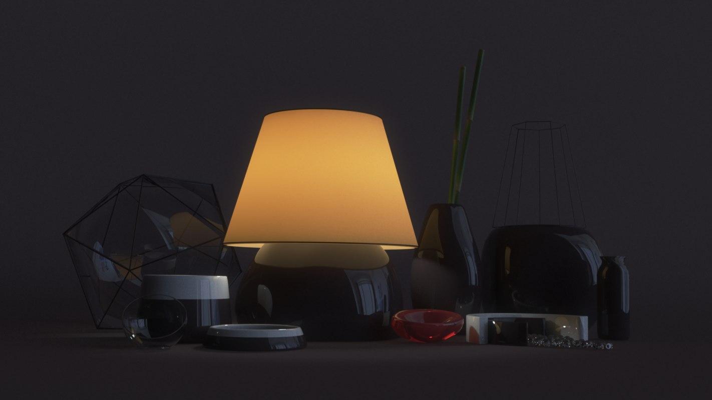 minimal interior decoration 3D model