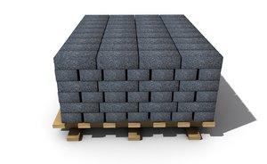 3D brick materials model