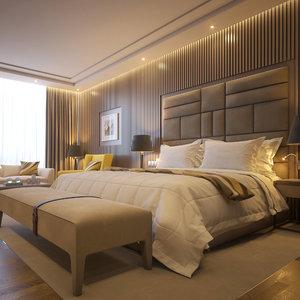 hotel room 2 scene 3D model